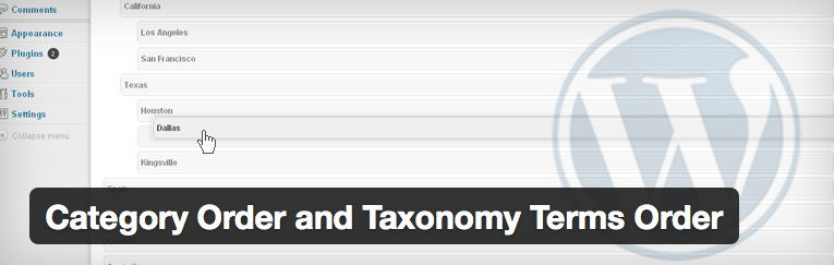 「Category Order and Taxonomy Terms Order」プラグイン